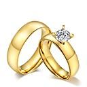 preiswerte Ringe-Eheringe Bandring - Kubikzirkonia, Titanstahl Quaste, Retro, Modisch 5 / 6 / 7 / 8 / 9 Golden Für Hochzeit Party Alltag