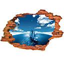 hesapli Dekorasyon Etiketleri-Manzara Duvar Etiketler 3D Duvar Çıkartması Dekoratif Duvar Çıkartmaları, Vinil Ev dekorasyonu Duvar Çıkartması Duvar