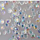 ieftine Artă Ștrasuri Colorate-1 pcs Reșină 4mm Bijuterie unghii Pentru Unghie nail art pedichiura si manichiura Glitters / Unghiul de bijuterii