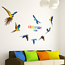 رخيصةأون ملصقات ديكور-لواصق حائط مزخرفة - لواصق حائط الطائرة حيوانات غرفة الجلوس / غرفة النوم / غرفة الأولاد / قابل اعادة الوضع