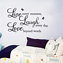 cheap Baking Tools & Gadgets-Decorative Wall Stickers - Words & Quotes Wall Stickers Still Life Living Room / Bedroom / Dining Room / Removable