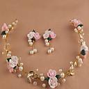 voordelige Haarsieraden-blad mooie roze bloemenkransen hoofdband voor Lady huwelijksfeest vakantie haar sieraden