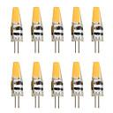 hesapli Fırın Araçları ve Gereçleri-10pcs 2W 200-250 lm G4 LED Bi-pin Işıklar T 1 led COB Dekorotif Sıcak Beyaz Serin Beyaz AC 12V