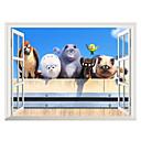 olcso Dekorációs matricák-Dekoratív falmatricák - 3D-s falmatricák Állatok / Karácsony / 3D Nappali szoba / Hálószoba / Fürdőszoba / Mosható / Eltávolítható