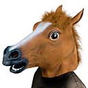 halpa Juhlatarvikkeet-Hevosenpää Halloween-maskit Halloween Props Kammottava Hauska Hevosenpää Asu Ruoka ja juoma Kumi Fun & Whimsical Naamiaiset Pieces Aikuisten Poikien Tyttöjen Lelut Lahja