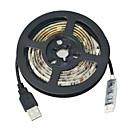 hesapli LED Şerit Işıklar-JIAWEN 1m Esnek LED Şerit Işıklar 30 LED'ler 5050 SMD RGB Kesilebilir / Su Geçirmez / Araçlar İçin Uygun 5 V / IP65 / Kendinden Yapışkanlı