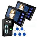 ieftine Testere & Detectoare-Ennio atingeți tasta 7 LCD sistem telefonic usa de amprente interfon video wth control acces cu amprentă digitală 1 camera de 2 monitor