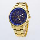 hesapli Erkek Saatleri-Erkek Quartz Elbise Saat / Gündelik Saatler Gül Rengi Altın Kaplama Alaşım Bant Günlük Altın Rengi