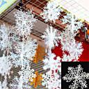 cheap Home Decoration-30Pcs Christmas Snow flakes White Snowflake Ornaments Holiday Christmas Tree Decortion Festival Party