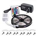 cheap LED Strip Lights-KWB 5m Light Sets 300 LEDs 3528 SMD RGB Remote Control / RC / Cuttable / Dimmable 100-240 V / IP65 / Waterproof / Linkable / Suitable for Vehicles / Self-adhesive