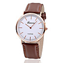 cheap Women's Watches-Women's Wrist Watch Casual Watch Leather Band Vintage / Fashion / Minimalist Black / Brown / One Year / Jinli 377