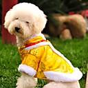 hesapli Köpek Giyim ve Aksesuarları-Kedi Köpek Paltolar Svetşört Köpek Giyimi Nakışlı Sarı Kırmzı Polar Kumaş Pamuk Kostüm Evcil hayvanlar için Erkek Kadın's Moda Yeni