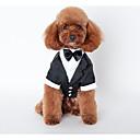 billige Hundeklær og tilbehør-Hund Drakter Hundeklær Britisk Svart Bomull Kostume For kjæledyr Herre Bryllup