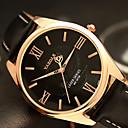 ieftine Lumini de cale-YAZOLE Bărbați Ceas de Mână Quartz Piele PU Matlasată Negru / Maro Ceas Casual Cool / Analog Clasic Casual Modă - Negru Maro Un an Durată de Viaţă Baterie / SSUO 377