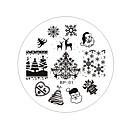 voordelige Nagelstempels-1 pcs Stempelplaat Sjabloon Modieus Design Nagel kunst Manicure pedicure Stijlvol / Modieus Dagelijks / stempelen Plate / Staal