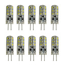 abordables Phares Antibrouillard-10pcs 1W 200lm G4 LED à Double Broches Tube 24 Perles LED SMD 3014 Décorative Blanc Chaud Blanc Froid 12V