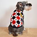preiswerte Bekleidung & Accessoires für Hunde-Katze / Hund T-shirt Hundekleidung Plaid / Karomuster Grau / Gelb / Rot Flanell Kostüm Für Haustiere Herrn / Damen Lässig / Alltäglich / Modisch