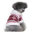 preiswerte Hundespielsachen-Hund Mäntel Pullover Hundekleidung Schneeflocke Schwarz Rot Baumwolle Kostüm Für Haustiere Herrn Damen Klassisch warm halten
