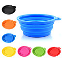 cheap Dog Clothing & Accessories-Dog Bowls & Water Bottles Pet Bowls & Feeding Portable / Foldable Green / Blue / Pink
