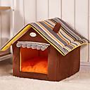 hesapli Köpek Giyim ve Aksesuarları-Kedi Köpek Yataklar Evcil Hayvanlar Mat & Pedler Karton Katlanabilir Miękki Kahve Kırmzı Yeşil Mavi Pembe Evcil hayvanlar için