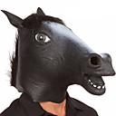 preiswerte Halloween Cosplay-Halloween-Masken Tiermaske Pferdekopf Zum Gruseln Latex Gummi Neuheit 1pcs Stücke Unisex Erwachsene Geschenk