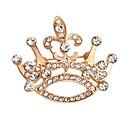 hesapli Kolyeler-Broşlar - Kristal Moda Broş Altın Uyumluluk Düğün / Parti / Özel Anlar