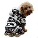 رخيصةأون ملابس وإكسسوارات الكلاب-كلب هوديس حللا منامة ملابس الكلاب الرنة كوفي أزرق زهري سروال قصير كوستيوم من أجل ربيع & الصيف الشتاء رجالي نسائي الدفء