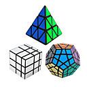 hesapli Makyaj ve Tırnak Bakımı-Rubik küp 3 parça Shengshou Pyraminx Alien Megaminx Ayna Küpü 3*3*3 Pürüzsüz Hız Küp Sihirli Küpler bulmaca küp Hız Profesyonel Hediye