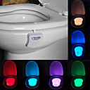 hesapli Yenilikçi LED Işıklar-youoklight 1 adet aşk tuvalet ışığı renk değiştiren aa piller destekli renk değiştiren ışık kontrolü <5V LED Işık>