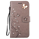 cheap iPhone Cases-Case For Apple iPhone X / iPhone 8 / iPhone 7 Wallet / Card Holder / Rhinestone Full Body Cases Butterfly Hard PU Leather for iPhone X / iPhone 8 Plus / iPhone 8