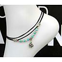 ieftine Bijuterii de Corp-Brățară Gleznă - Perle Inimă, Iubire Cu Mărgele, European Negru Pentru Nuntă / Pentru femei