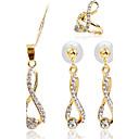 Недорогие Серьги-Жен. Синтетический алмаз Комплект ювелирных изделий - Включают Золотой Назначение Для вечеринок / Повседневные / кольца