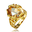 hesapli Yüzükler-Kadın's Kübik Zirconia Yüzük - 18K Altın Kaplama, Altın Kaplama İfade 6 / 7 / 8 Altın Uyumluluk Düğün / Parti / Günlük