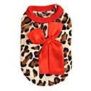 hesapli iPhone Kılıfları-Kedi Köpek Svetşört Vesta Köpek Giyimi Leopar Gül Kırmzı Polar Kumaş Kostüm Evcil hayvanlar için Erkek Kadın's Günlük/Sade Moda