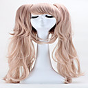 cheap Makeup & Nail Care-halloween holiday party wigs 65cm anime hair junko enoshima double ponytail clip long synthetic cosplay hair wig Halloween