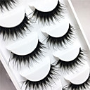 cheap Makeup & Nail Care-Eyelashes Eyelash Extensions / False Eyelashes 10 pcs Eye Lifted lashes / Volumized / Extra Long 0.1 mm Full Strip Lashes / Crisscross / Thick Fiber Black Band
