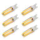 abordables Tubes LED-6pcs 4 W 380-400 lm G9 Ampoules à Filament LED T 4 Perles LED COB Blanc Chaud / Blanc Froid 220-240 V / 6 pièces / RoHs
