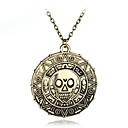 preiswerte Halsketten-Herrn Sicherungsleinen - Totenkopf, Tier Anhänger Stil, Europäisch Bronze Modische Halsketten Schmuck Für Alltag, Normal