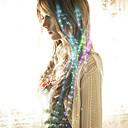 tanie Wstążki i opakowania na prezenty-światłowód led spinka do włosów dla panny młodej na imprezę z kolorem 40cm