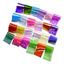 preiswerte Make-up & Nagelpflege-24pcs/set Aufkleber & Tapes / Folienaufkleber / Nagel-Aufkleber Glitter / Spiegeleffekt / Nagel-Aufkleber Nagel-Kunst-Design
