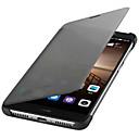 رخيصةأون النماذج-غطاء من أجل Huawei Mate 9 نوم / استيقاظ أتوماتيكي / قلب غطاء كامل للجسم لون سادة قاسي جلد PU