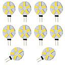 tanie Filiżanki i szklanki-10pcs 2W 360lm G4 Żarówki LED bi-pin T 15 Koraliki LED SMD 5730 Ciepła biel Zimna biel 12-24V 12V
