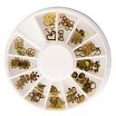 hesapli Makyaj ve Tırnak Bakımı-60 pcs Tırnak Takısı Tatlı tırnak sanatı Manikür pedikür Günlük Çiçek Stili / Heart Shape / Kar Tanesi / Nail Jewelry