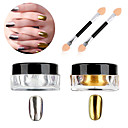 cheap Makeup & Nail Care-1g box nail polish treatment glitter powder sliver gold glitter nail art chrome pigment