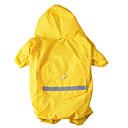 رخيصةأون ملابس وإكسسوارات الكلاب-كلب معطف المطر ملابس الكلاب لون سادة تمويه اللون أصفر أحمر قماش كوستيوم من أجل ربيع & الصيف الصيف رجالي نسائي مقاومة الماء الرياضات