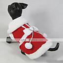 abordables Costumes de Noël pour animaux de compagnie-Chat Chien Manteaux Robe Vêtements pour Chien Noël Nouvel An Nœud papillon Rouge Costume Pour les animaux domestiques
