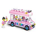 cheap Stacking Blocks-ENLIGHTEN Toy Car Building Blocks Construction Set Toys 213 pcs Car Ice Cream compatible Legoing Creative Lovely Elegant & Luxurious Glamorous & Dramatic Cartoon Boys' Girls' Toy Gift