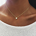 cheap Earrings-Women's Pendant Necklace - Star Unique Design, Dangling Style Gold, Silver Necklace For Birthday, Engagement, Daily