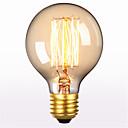 Недорогие LED лампы накаливания-1шт 60 W E26 / E27 G80 Тёплый белый 2300 k Ретро / Декоративная Лампа накаливания Vintage Эдисон лампочка 220-240 V