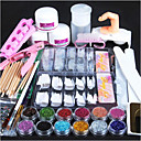 cheap Makeup & Nail Care-1 set Glitter Powder Nail Art Tool Nail Art Kit For Finger Nail Toe Nail Multi-function nail art Manicure Pedicure Chic & Modern / Trendy / French Tips Guide